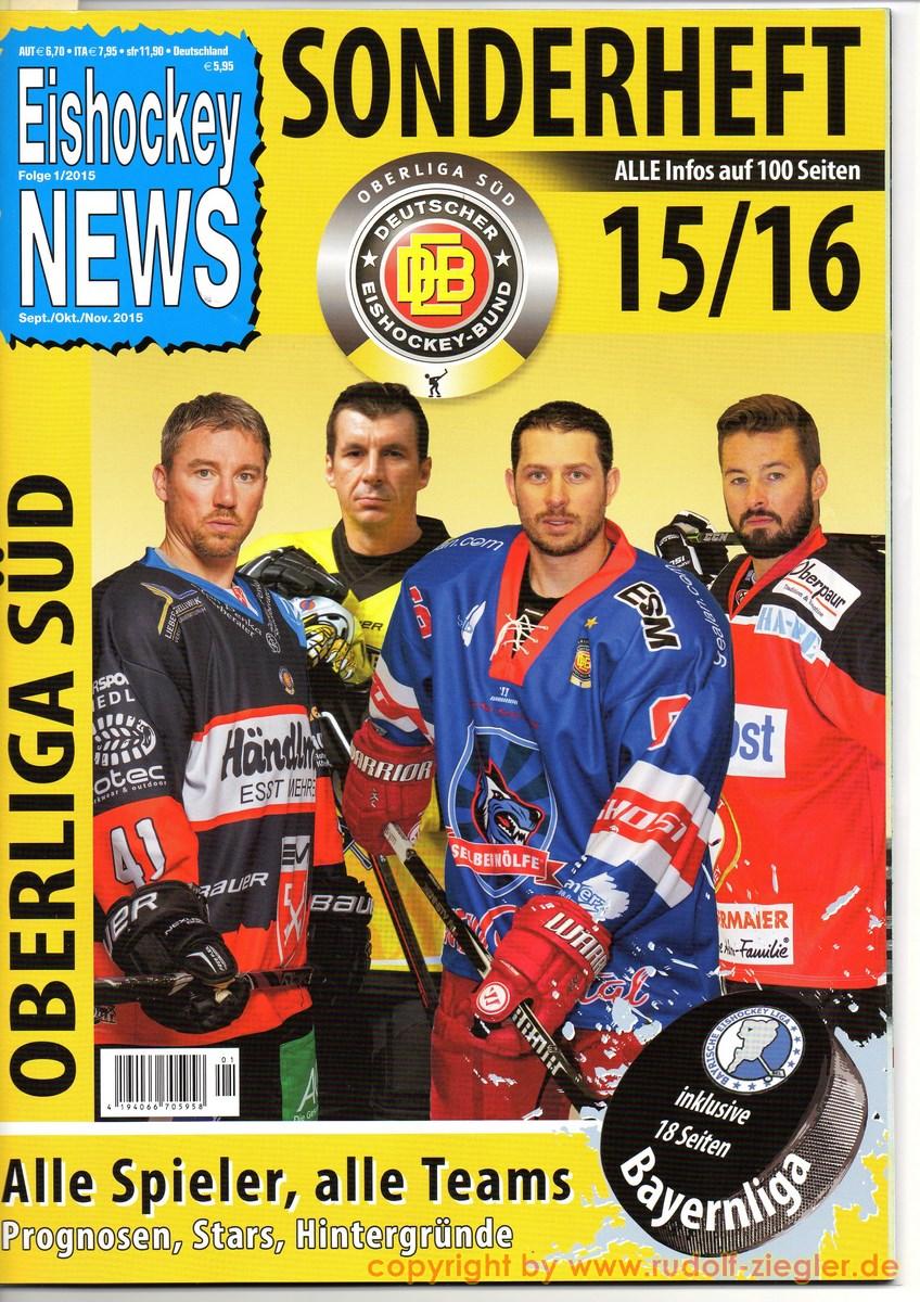 Êishockey NEWS - Sonderheft - OBERLIGA SÜD 15-16 [1600x1200]