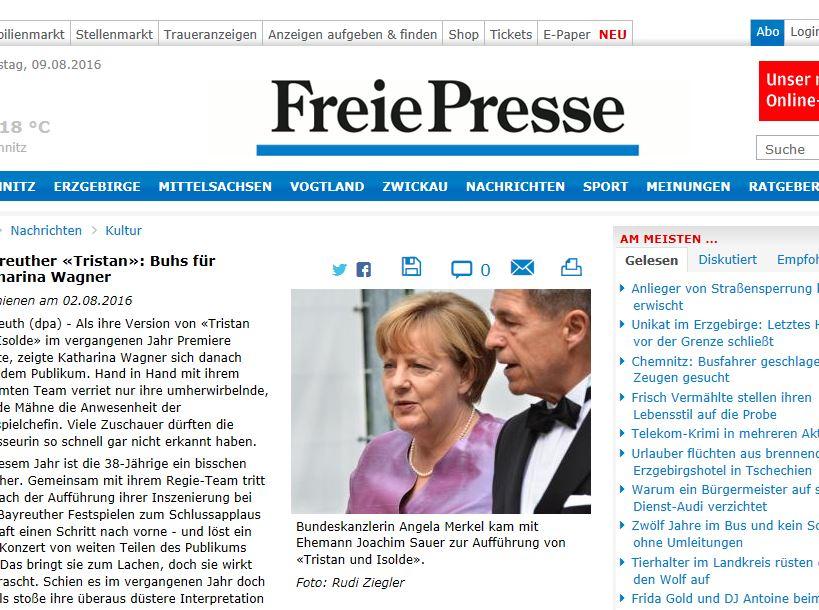 Freie Presse - Angela Merkel