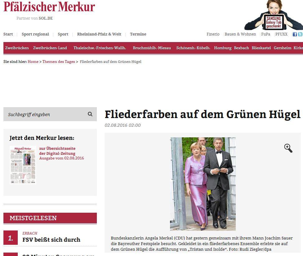 Pfälzer Merkur - Angela Merkel